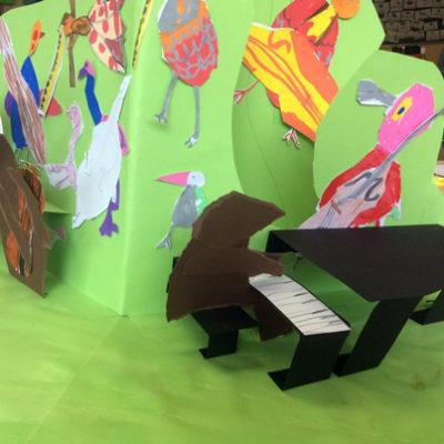 pop-up scolaires livre musique animaux